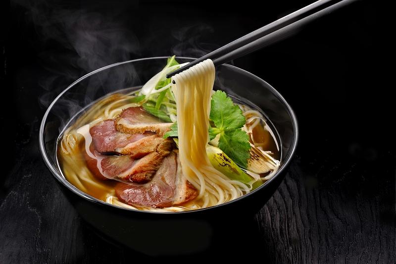さつまいも冷麺・薩摩黒鴨ラーメン